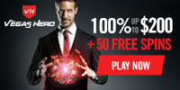 vegas hero 50 gratis spins